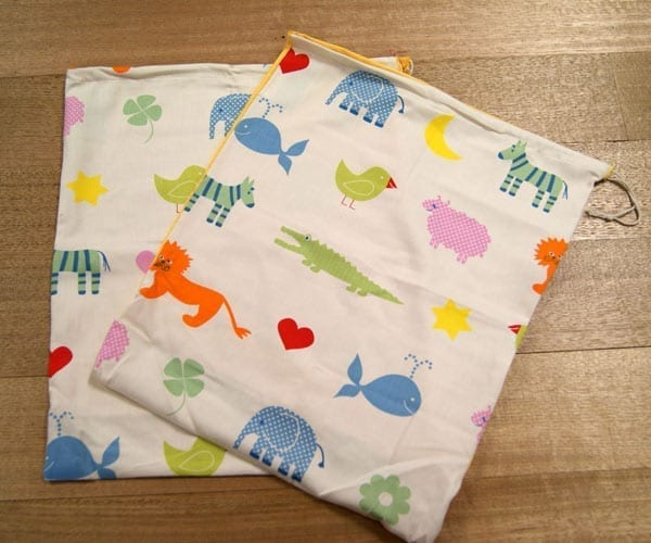 Kinder Bags – Organic Cotton Poplin – Noahs Ark and On the Farm Prints