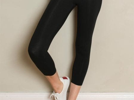 Ladies 7/8 Leggings – Organic Cotton – Black or Navy – large