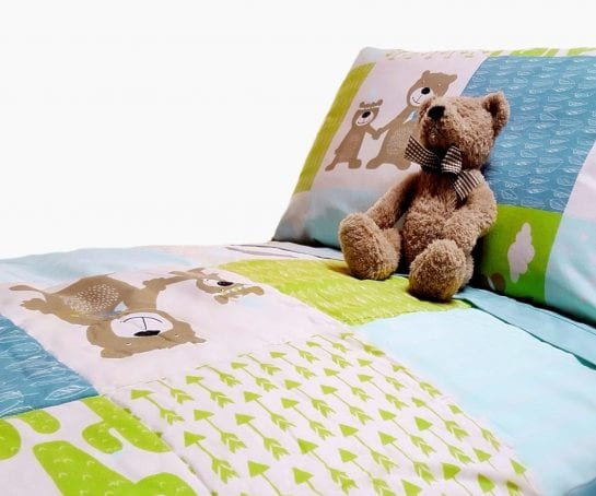 organic-cotton-comforter-sets-for-single-bed-sizes-in-bear-design