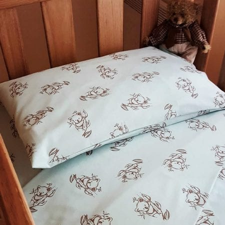 organic-cotton-koala-print-sheets-and-quilt-covers-mint-FOR-BABY
