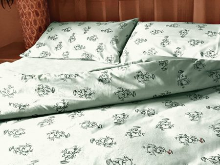 Organic Cotton Koala Print – Sheets, Cushion and Quilt Covers – Mint