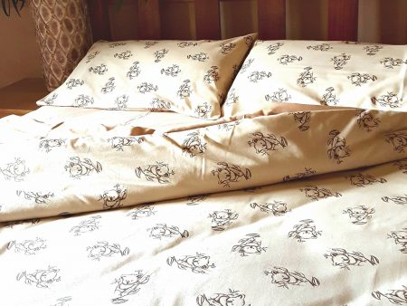 Organic Cotton Koala Print – Sheets, Cushion and Quilt Covers – Mint or Natural