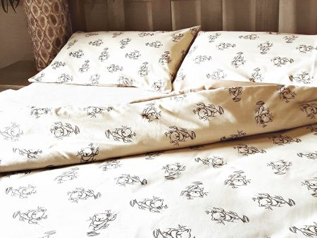 Organic Cotton Koala Print – Sheets, Cushion and Quilt Covers – Natural