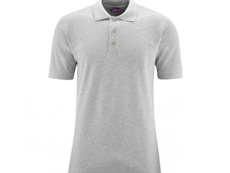 Organic Cotton Polo Shirt – Light Grey – all sizes