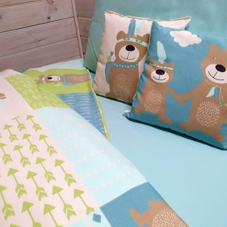 patch-print-quilt-covers-and-pillowcases-organic-cotton-cot-single-bear-design