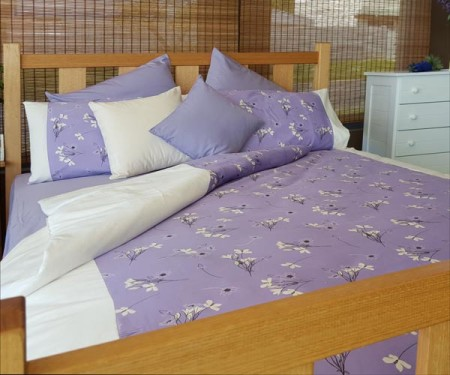 European Pillowcase – Wildflower Lilac