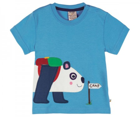 T-Shirt Little Ollie Panda Appliqué