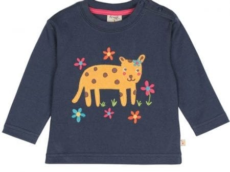 Certified Organic Cotton Top – Little Leopard Appliqué – 2 to 3 years