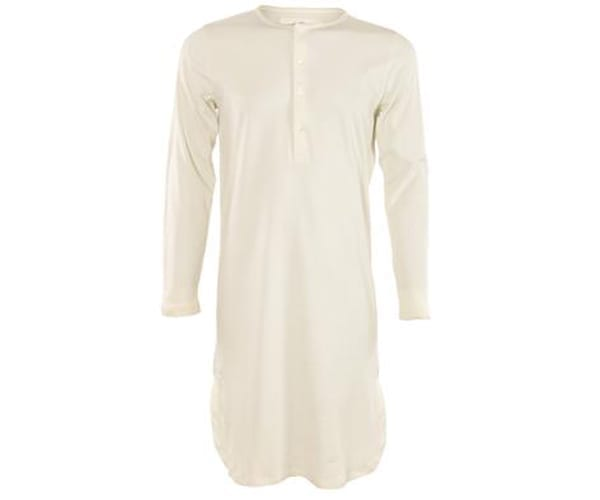 Unisex Retro Nightdress – 100% Organic Cotton – navy, natural or grey