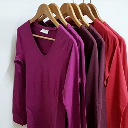v-neck-womens-stretch-long-sleeve-shirt-organic-cotton-red-truffle-or-pink