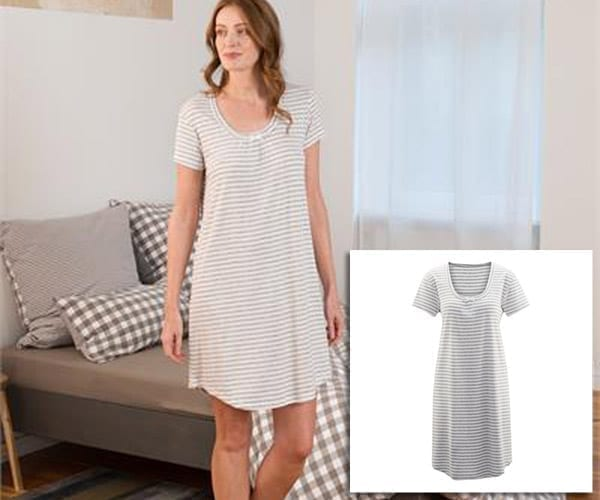 Womens Organic Cotton Nightdress – Ariana – various colours
