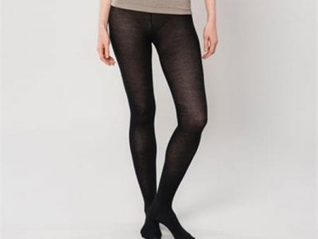 Women's Opaque Tights – organic cotton, organic wool, high-grade silk – black or grey